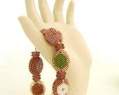 Bracelet - beaded beads by Sharri Moroshok - lavender purple silver