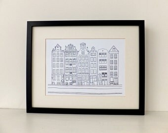 Amsterdam Print - art print - home decor - art - Picture of Amsterdam, Holland