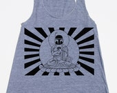 Womens Boba Fett Buddha Star Wars tank top - american apparel athletic gray - available in XS,S, M, L  WorldWide Shipping