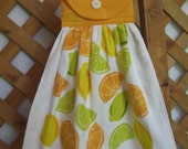 Summer Lemon Lime Kitchen Tea Towel U-Pick Top Color Hanging Kitchen Tea Towel SnowNoseCrafts