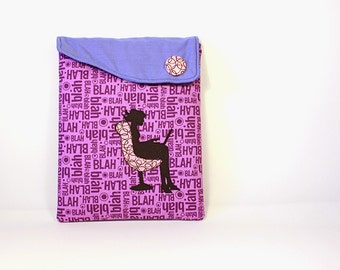 Ipad case: Ipad cover - Ipad sleeve -Padded case - Purple case