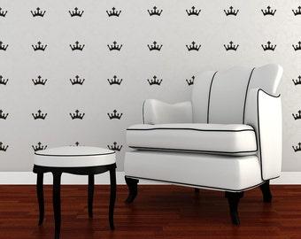 Mini Crowns Decal,  Crown Decal, Princess Crown Vinyl Decal, Crown Wall Decal Mini Crowns Decals Wall Decals
