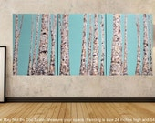 24x54 Modern Aspen Tree Forest Multi Panel