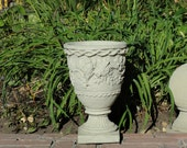 Vintage SPARROW'S URN Stone Planter w/ Weathered Texture (c)