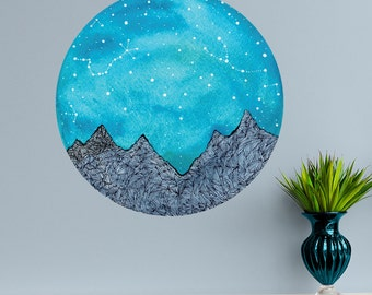 Scorpio and Taurus Constellations Decal - Nature Wall Art by Elise Mahan