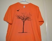 Men's T Shirt, Crows, Tree, Spooky Tree,  Cool T Shirt