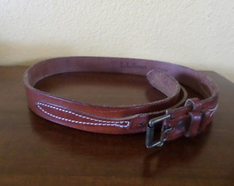 Leather LL BEAN BELT/Cowhide Ladies 36""
