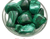 1 XXL Premium MALACHITE Tumbled Stone Healing Crystal and Stone for Protection Memory Health Reiki Wicca Green Stone #SP3