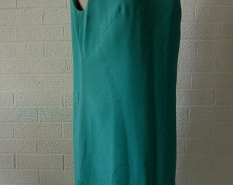 MOD 1960s Kelly Green Lace Shift Dress with Matching Green Lace Jacket 10/12/ L