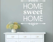 Home SWEET HOME Vinyl Wall Decal Quote Q-113