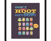 RETIRING Printable Art - Owls Don't Give A Hoot 8x10