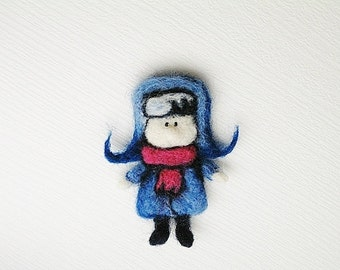 Boy Brooch, Pin, Magnet, Bookmark, Decoration MADE TO ORDER