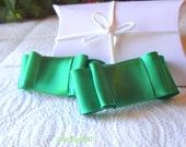 Satin Bow Shoe Clips / Bridal Party Wedding /Women Shoe Clips in Emerald Green