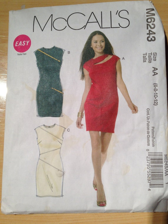 McCalls Sewing Pattern 6243 Misses Evening Dresses Size 6-12 or 14-20