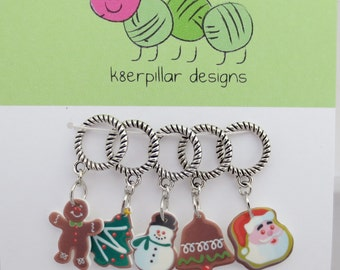 Christmas Cookies - Snagless Stitch Markers