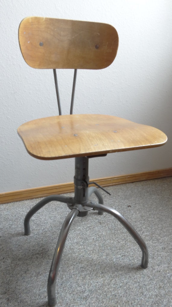 Vintage Singer Industrial Factory Sewing Chair By