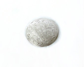 Vintage Sterling Dynasty Etched Brooch