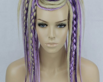 Blonde, Lavender & Purple Dread Falls. 20 Inches Long.