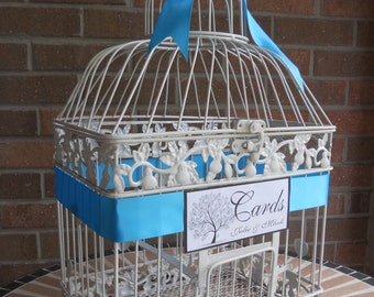 Wedding Supplies Wedding Card Holder, Bird Cage Money Holder, Shower Card Holder, Tree of Life, Personalized, Wedding Decor, Shower Card Box