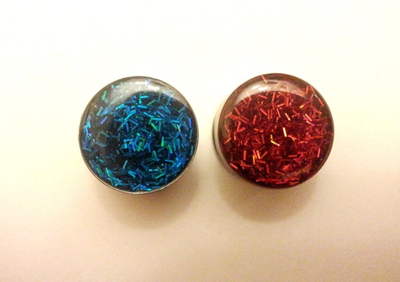 Ruby and Sapphire Plugs sizes 0g, 00g, 7/16, 1/2, 9/16, 5/8, 11/16, 3/4, 7/8 and 1 inch