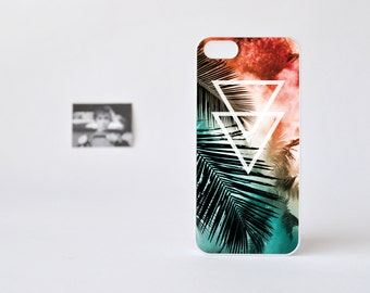 iPhone 5 Case - iPhone 5s Case - Geometric iPhone 5 Case - Triangule over Palm Tree Print iPhone 5 Case - Hipster iPhone 5 Case