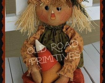 Primitive Scarecrow Pattern Candy Corn Scarecrow Raggedy Halloween Fall ePattern