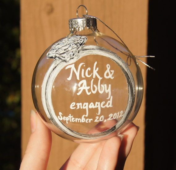 Personalized engagement ornaments - Lookup BeforeBuying