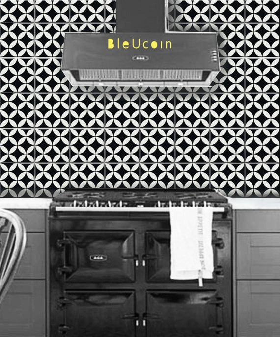 Bleucoin Tile Decal Backsplash: Tile Decal: Barcelona Tile Decal 44 Pcs By Bleucoin On Etsy