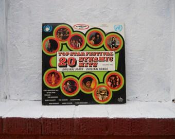 1972 Dynasty Hits VINYL Record. Original Stars Record  Album. Vintage Top Star Festival LP