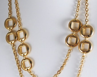 "Trifari Vintage 54"" Heavy Gold Plated Chain"