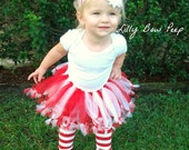 4th of July Red & White Stripe Leg Warmers-Baby Girl Clothes-Outfit-Infant-Child-Toddler-Pants-Holiday Clothing-Stripes-Bow-Nautical Outfit