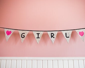 Girl Baby Banner, Baby Shower Decorations, Party Decorations