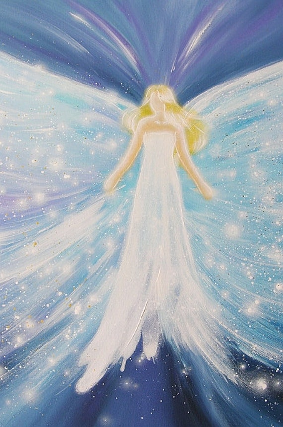 Universal Love Art : Limited angel art poster universal love modern