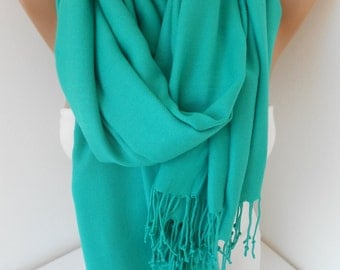 St Paricks Day Pashmina Scarf Teal Green Scarf Shawl Women Fashion Accessories Irish Scarf Gift Ideas For Her Mothers Day Gift For Mom