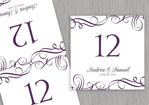 wedding table number card template download by karmakweddings. Black Bedroom Furniture Sets. Home Design Ideas