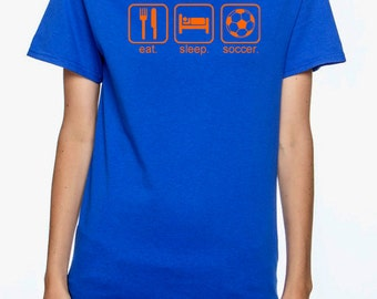 Soccer T-Shirt | Eat. Sleep. Soccer T-shirt | Available in over 30 color combinations! | Perfect gift for the soccer lover! | Florida Soccer