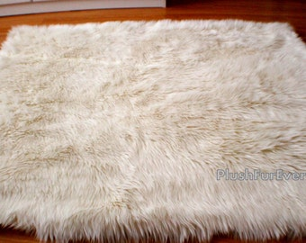 luxury faux fur rug long sheepskin - Faux Fur Rugs