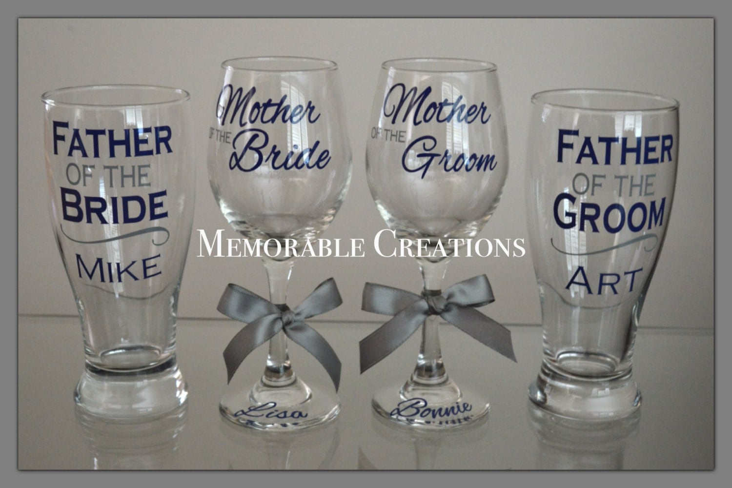 Personalised Wedding Gifts Quick Delivery : FAST SHIPPING-Personalized Wedding Glasses for the