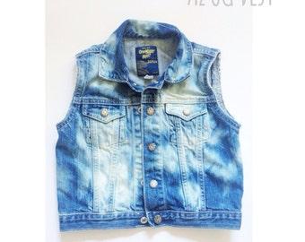 The AZ OG Vest - childrens vest - kids denim vest - childrens jean vest