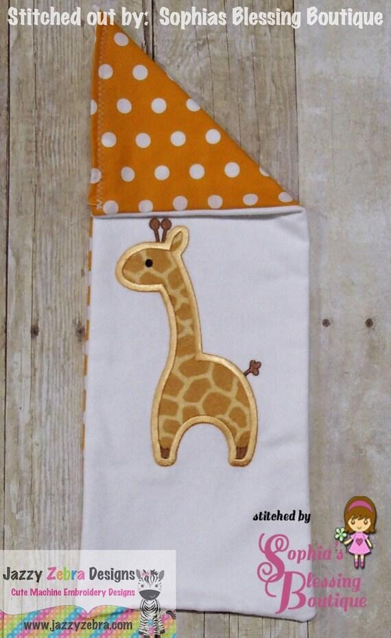 Giraffe 38 Applique embroidery Design - giraffe applique design - zoo applique design - jungle applique design - safari applique design