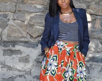 African Print Skirt - The Laura Skirt