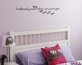 Harry Potter - I Solemnly Swear... Wall Art Decal