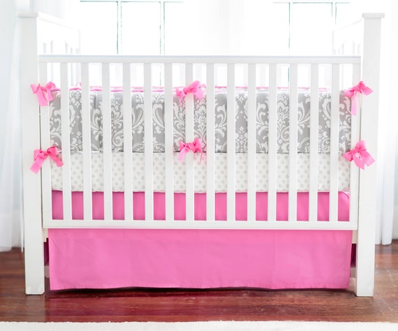 Hot Pink Crib Skirt 5