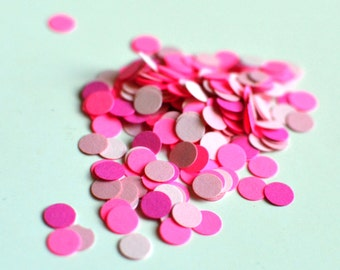 Pink Circle Paper Confetti - Pink Confetti - Table Confetti - Confetti - Pink - Baby Shower Confetti - Baby Girl