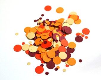 Fall Confetti - Thanksgiving Confetti - Autumn Confetti - Fall Colors - Confetti - Orange - Maroon - Beige - Pumpkin