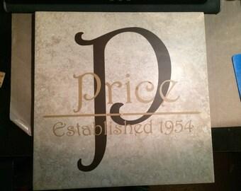 12 x 12 Vinyl Family Established Tile