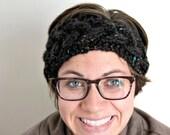 Braided Ear Warmer, Hand Knit Headband, earwarmer, cable knit