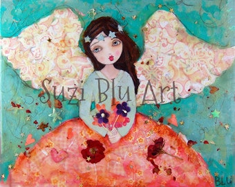 Patchwork Angel PETITE DOLL Mixed Media Art Workshop