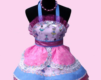50% SALE!! Ballerina Princess Costume girl's princess costume girl's apron princess costume birthday princess dress Ready To Ship