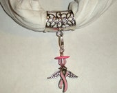 Scarf Bail Slide with Detachable Ribbon Angel